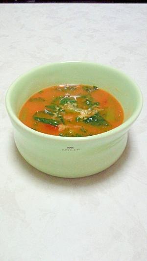 小松菜・パセリ・トマトの簡単スープ