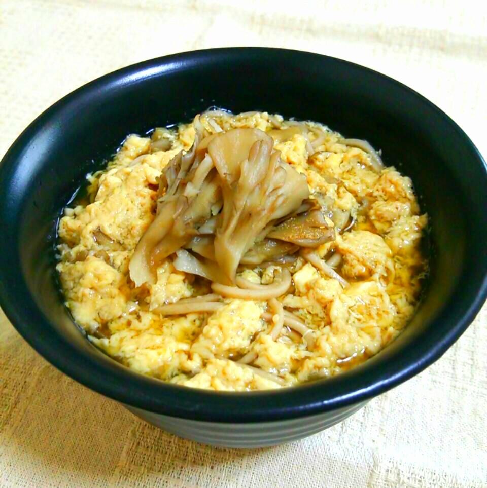舞茸香るかき玉蕎麦