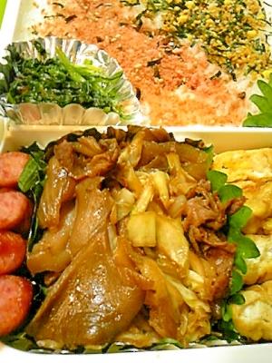 牛肉とキャベツの焼肉風炒め弁当