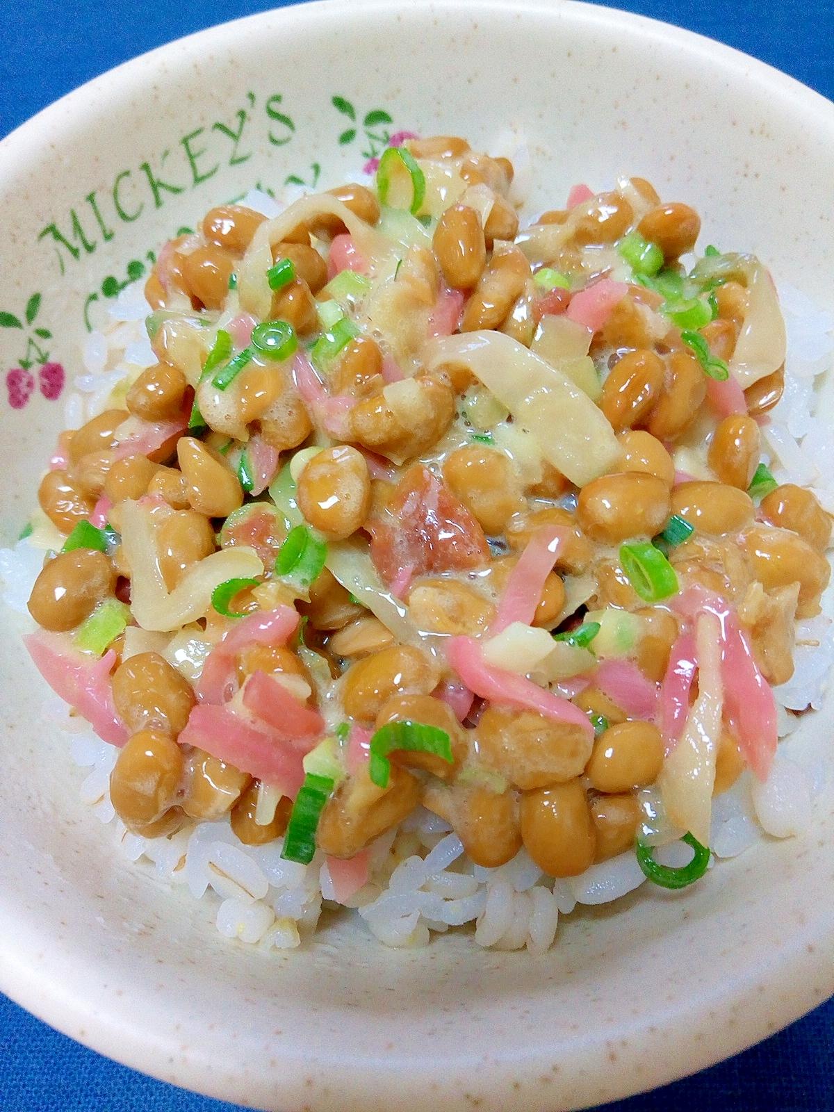 納豆の食べ方,ザーサイ&梅生姜♪
