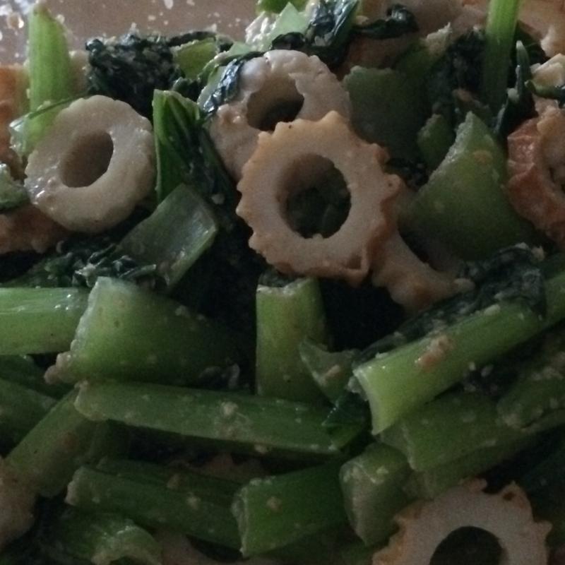 小松菜とちくわのごまポン和え