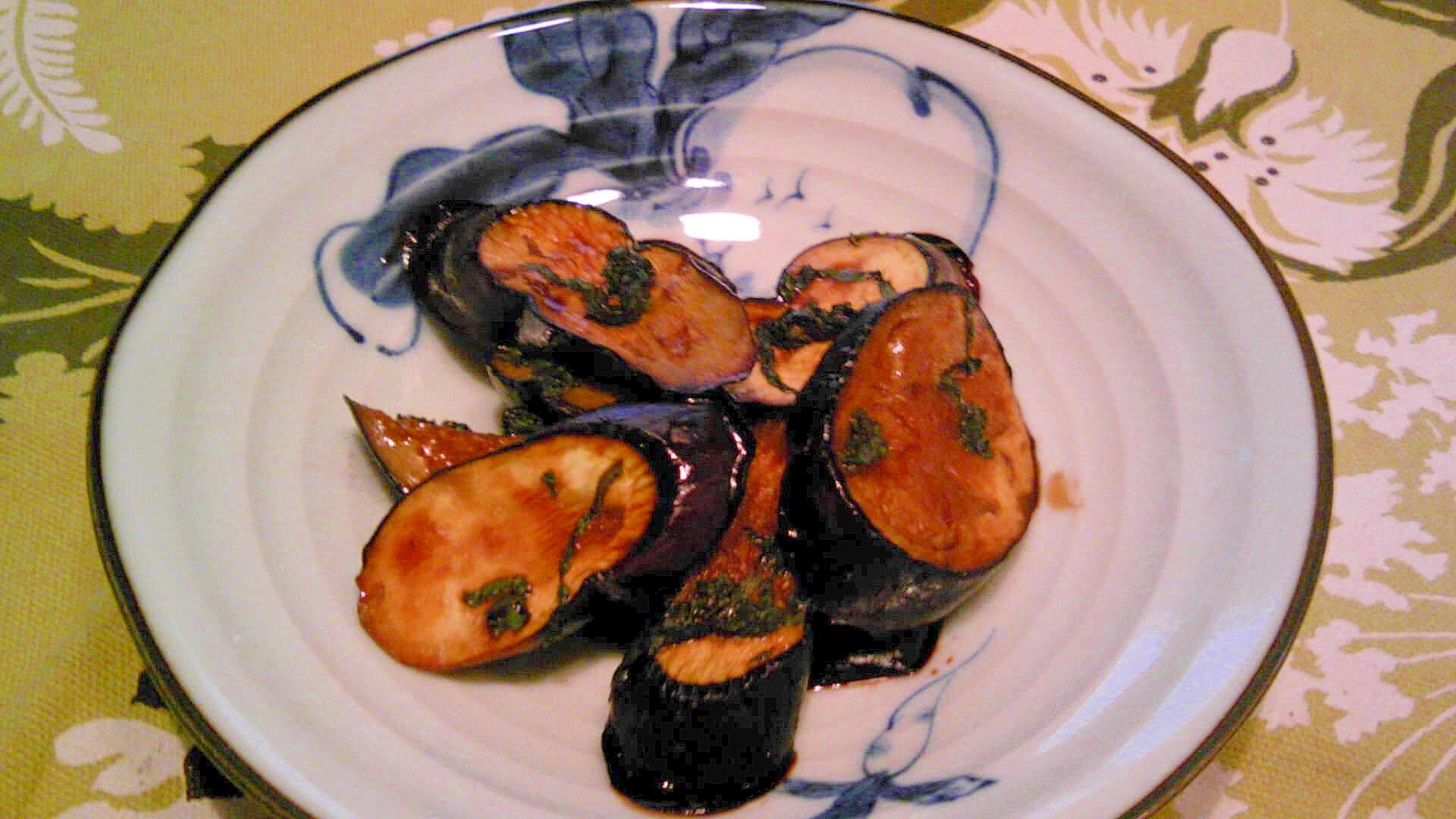茄子のバルサミコ酢焼き