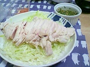 ゆで鶏香味ソース