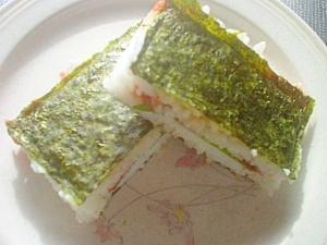 サンドイッチ大葉&はちみつ梅おにぎり☆