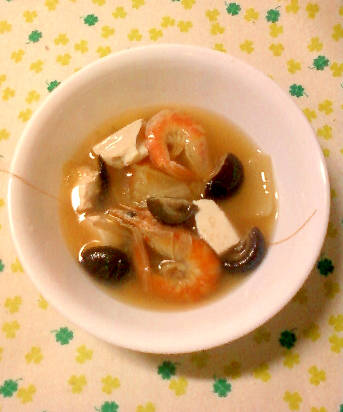 ☆。.:*白菜と海老と豆腐と椎茸の鍋☆。.:*:・