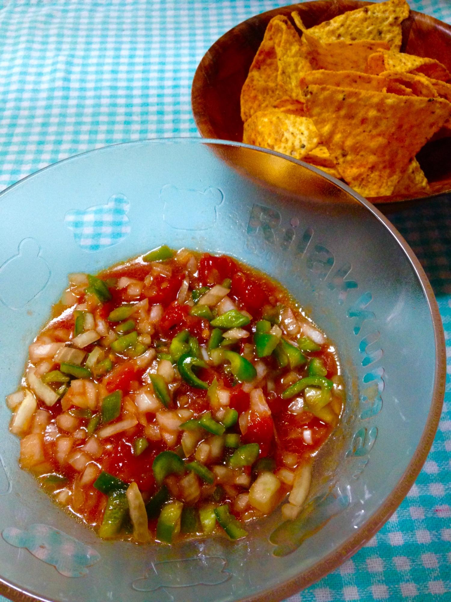 トマト缶で★サルサソース レシピ・作り方