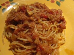 ツナとマッシュルームのスパゲッティ