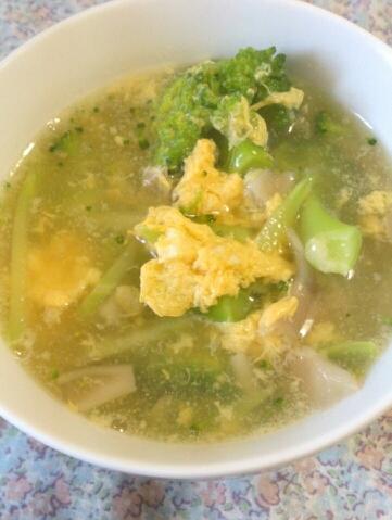 ブロッコリーと溶き卵の中華スープ