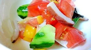 彩り楽しい、蛸と夏野菜のサラダ