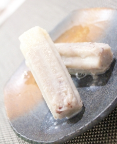 低糖質あんこで作る★小倉ミルクアイスキャンディー