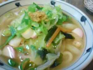 寒い冬に。野菜のあんかけうどん