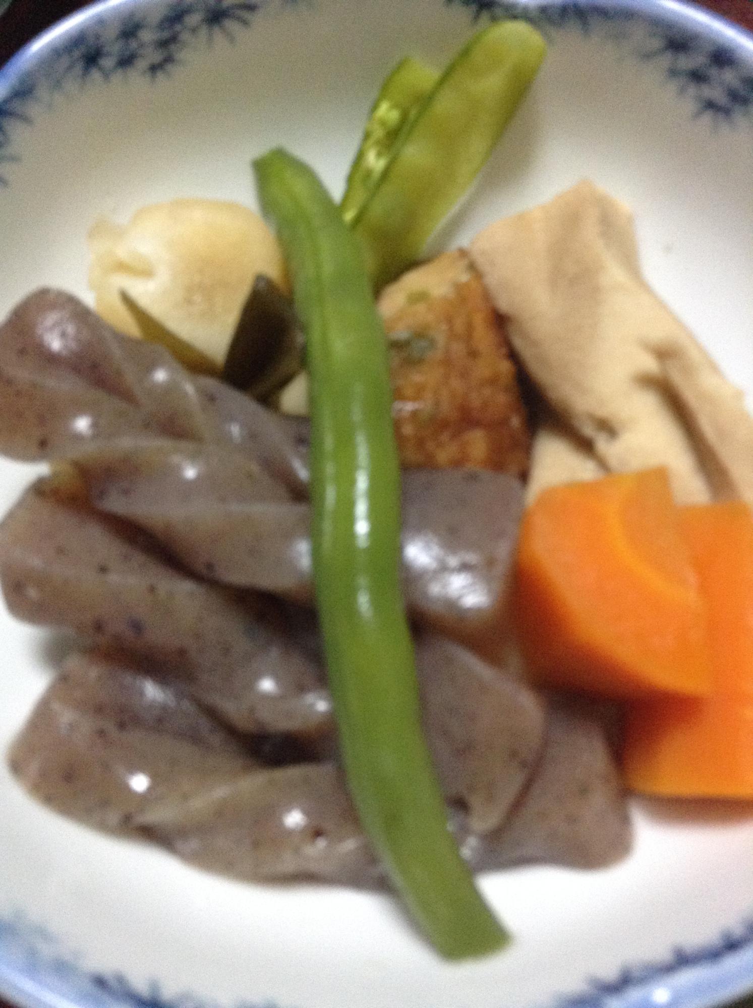 里芋と薩摩揚げと高野豆腐の梅煮