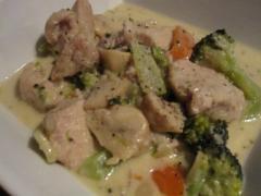 チキンと野菜のフリカッセ