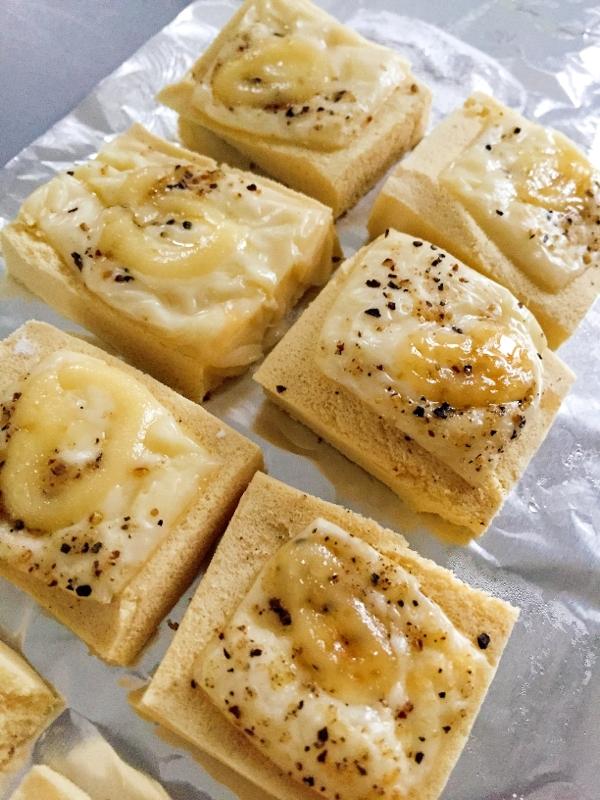 3. こうや豆腐とチーズで、ひと口おつまみ