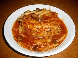 手抜き☆きのこたっぷり煮込み豆腐ハンバーグ