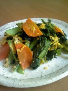 小松菜の卵炒め♪