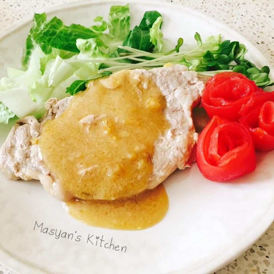 6. 豚肉の柚子味噌焼き