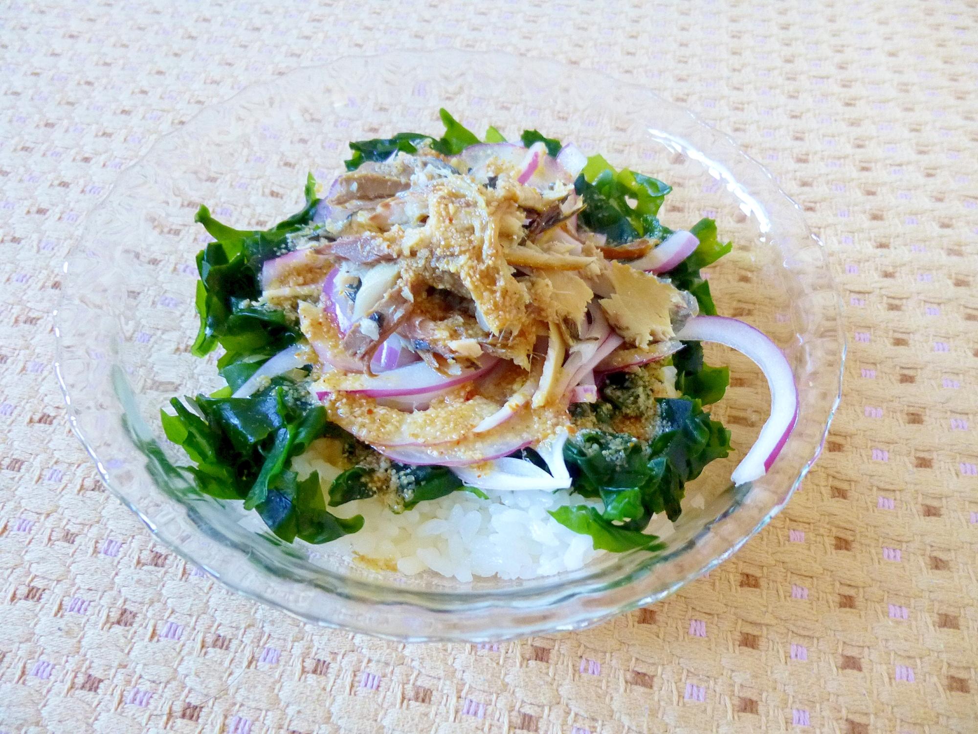 ☆リメイク☆さんまの塩焼きサラダ丼