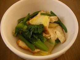 厚揚げと残り野菜の煮物
