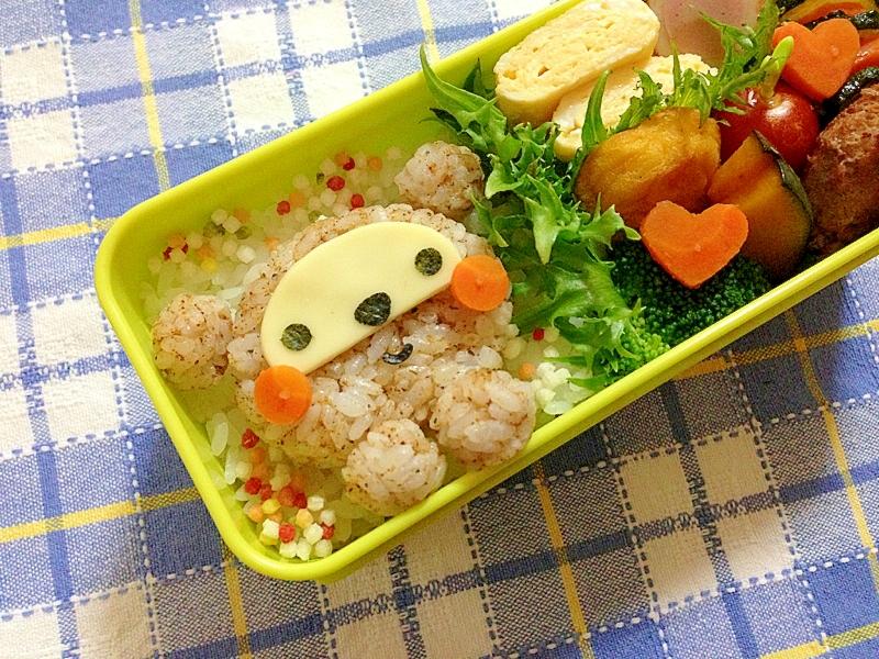 簡単キャラ弁☆たぬきちゃんのお弁当♪
