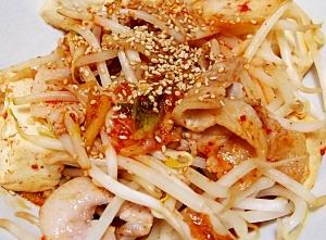 豚バラと豆腐のキムチ炒め