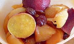 炊飯器でさつまいもとりんごのスイーツ