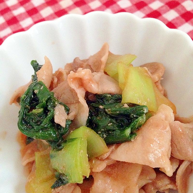 豚肉&ちんげん菜のケチャップ炒め