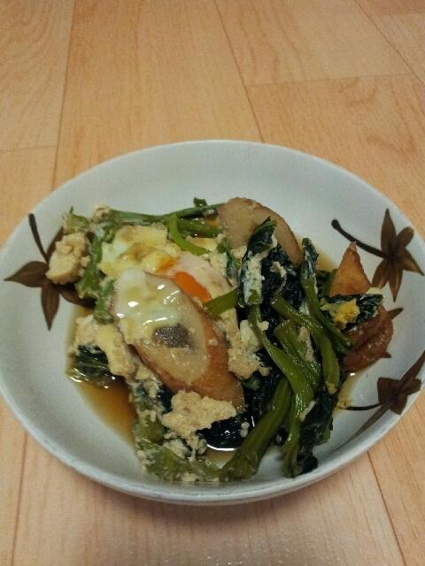 小松菜とたまごの煮ひたし