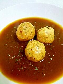 つくねが余ったらシンプルカレースープ