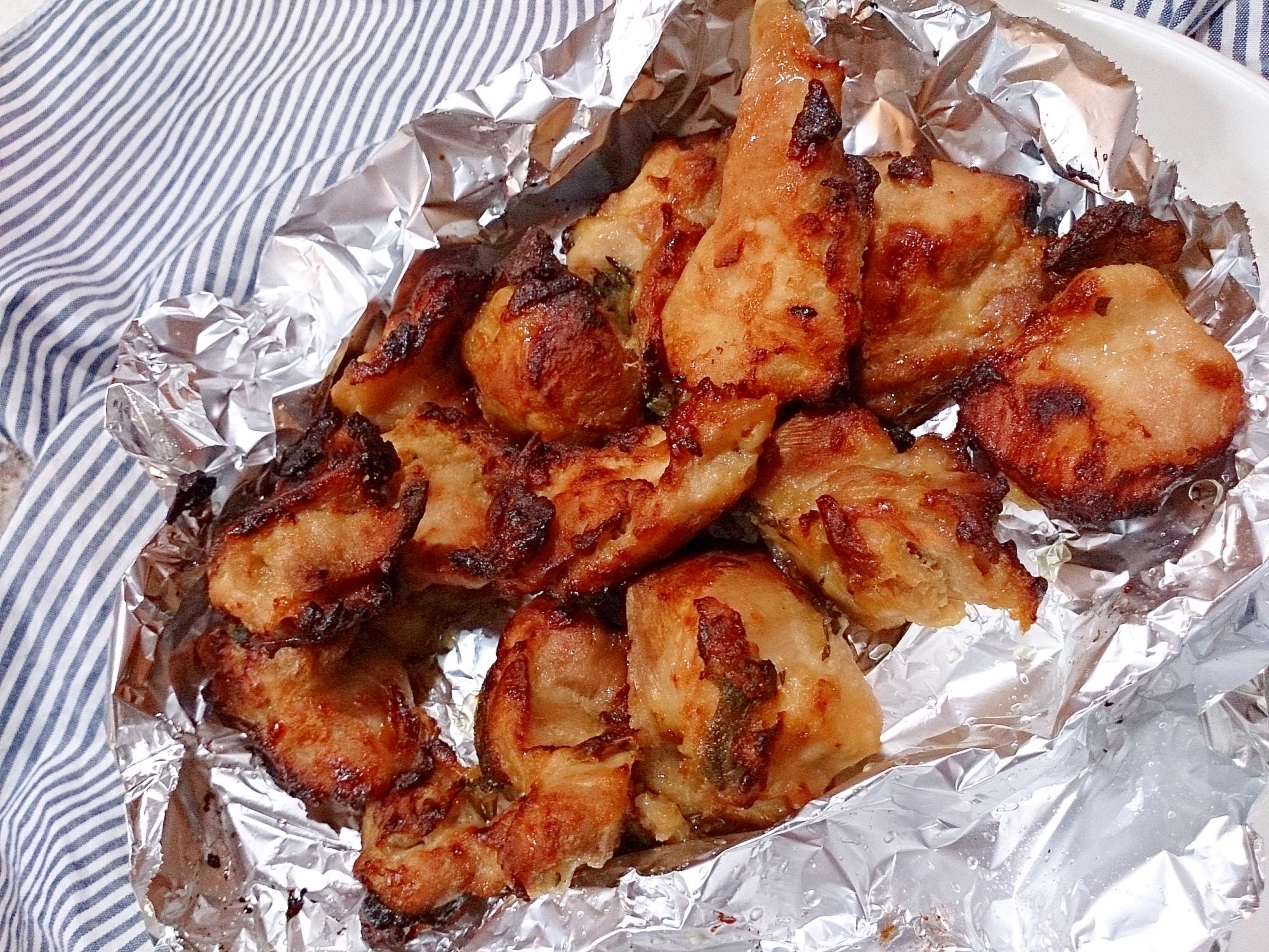 大葉と梅肉の鶏の唐揚げ(ノンフライヤー)