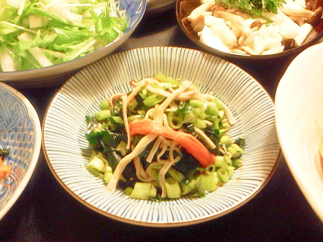 3. ピリッと感!わさび菜の茎の酢の物