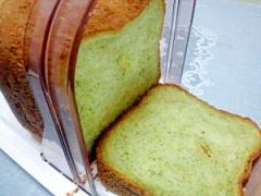 HBで塩麹入り緑茶豆乳パン