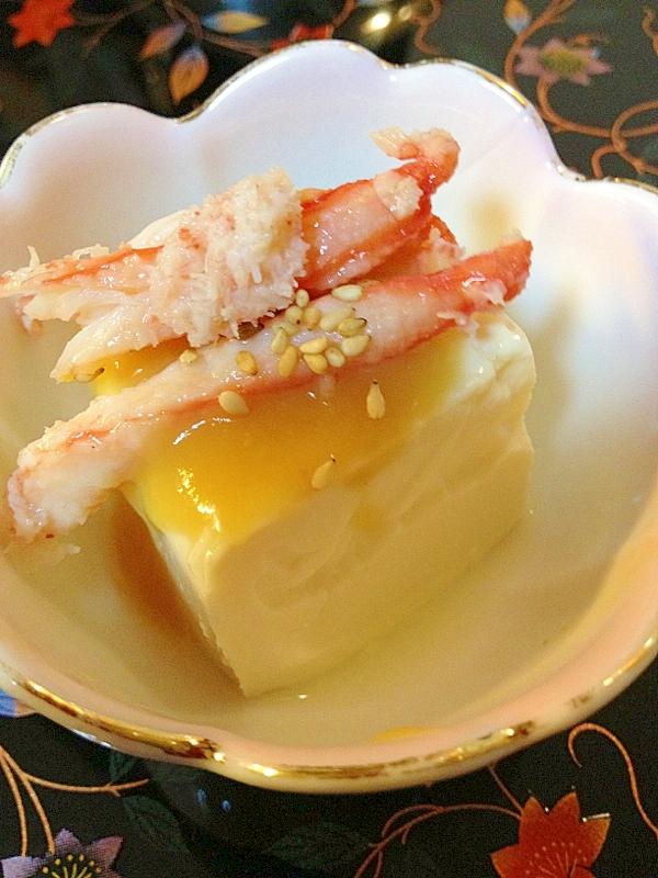 豆腐の小鉢~蟹身酢味噌~