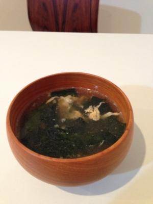 簡単!ワカメとたまごの中華風スープ★