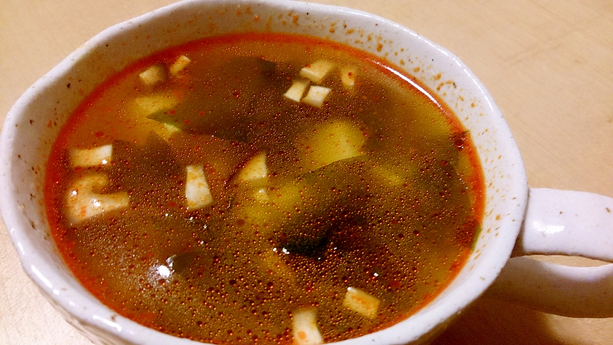 食べるラー油を使って簡単スープ