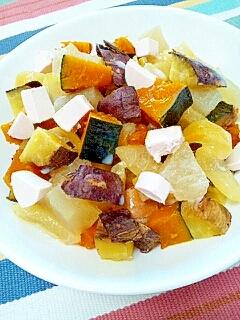 秋冬満載☆さつま&南瓜&林檎&柚子のパンシリアル♪