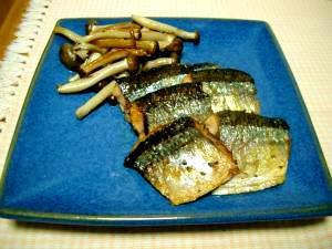 お手軽!オリーブ油で秋刀魚の洋風塩焼き
