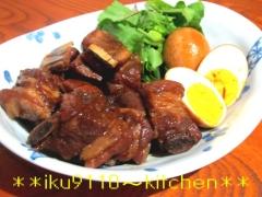 んまっ♪豚スペアリブのマーマレード煮込と煮卵