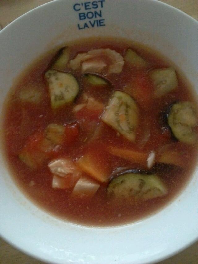 あったまる♪トマトスープ(´Д`)
