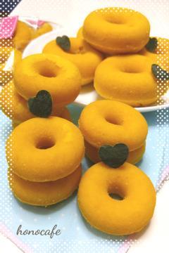 揚げない!ふわふわ★HMとかぼちゃのドーナツ