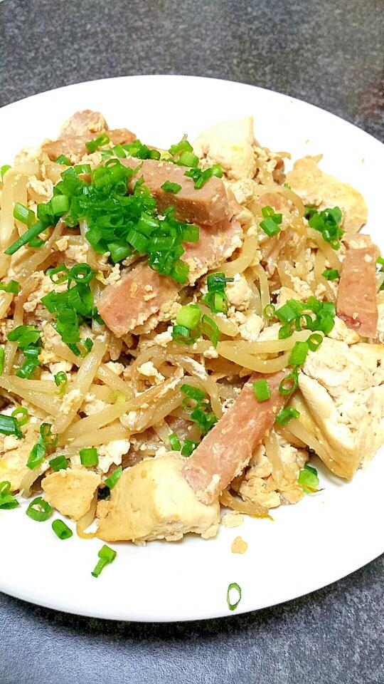 4. スパムと豆腐のチャンプルー