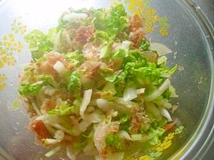 花削りぶしと白菜でポン酢サラダ☆