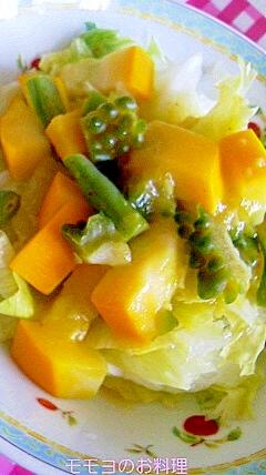 茹で野菜でサラダ
