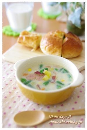 さつまいもの豆乳スープ