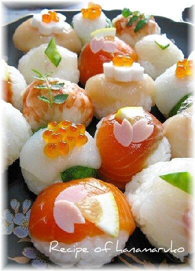 コロンと可愛い~♪おもてなしのてまり寿司☆ レシピ・作り方 by はなまる子♪|楽天レシピ