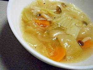 圧力なべで♪とろとろ鶏だし野菜スープ♪
