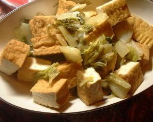 白菜と厚揚げをさっと煮てみました
