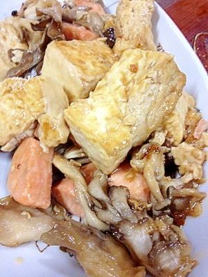 豆腐と鮭のオイスター炒め