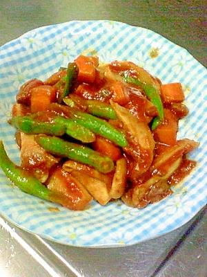 野菜で主菜!いんげんときのこのパスタソース煮