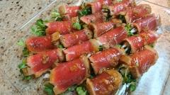 マグロの叩き 香味野菜巻き